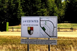 J-V Estates Project signage